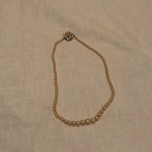 Jewelry - Antique Faux Pearl Necklace Circa 1950s